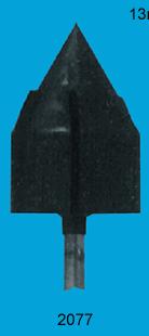 Gummihållare till sliphätta spetsig 13mm