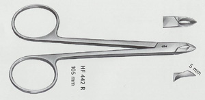 Sax nyp Aesculap vinklad/böjd 105 mm HF442R