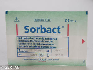Sorbact tamponad 2x50cm 20st-10%)