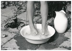Plansch fot i balja svart/vit