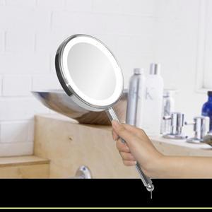 Spegel 5x & 1x förstoring belysn