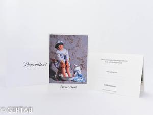 Presentkort flicka i fotbad 10 st blå/vit