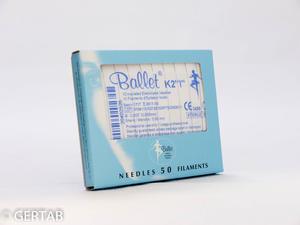Epileringsnål Ballet isolerad K-skaft 50 st