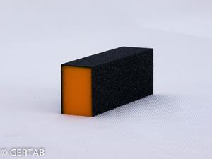 Polerblock svart orange 3-sid.