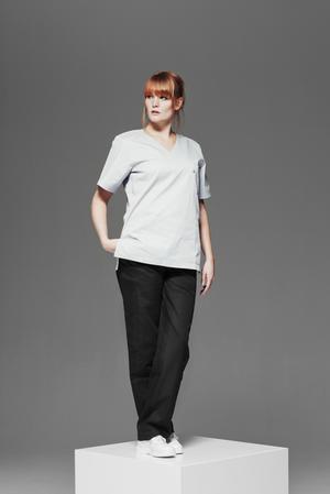 Kläder Unisexbyxa med resår vit