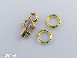 Nageldekor hängsmycke nyckel guld