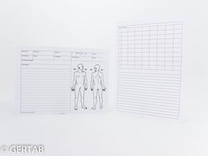 Journalkort akupunktur A5 100st/frp.