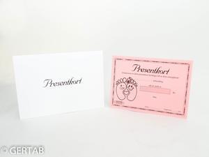 Presentkort med kuvert 50 st rosa fot