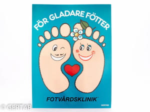 Klinikskylt fötter 33 x 44cm