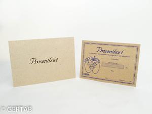 Presentkort med kuvert 50 st natur fot
