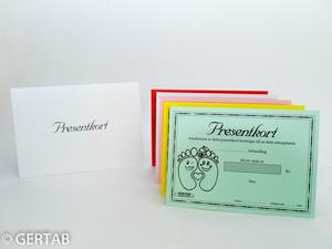 Presentkort med kuvert 50 st blandad fot