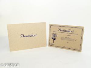 Presentkort med kuvert 50 st natur blomma
