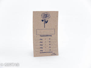 Tidkort standard natur blomma 250 st